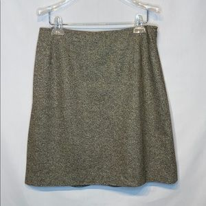 Brooks Brothers Green Wool Blend Skirt Size 12